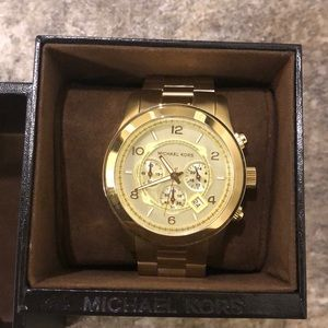Micheal kors gold plated watch